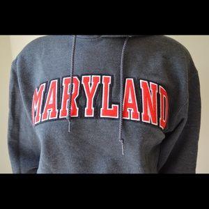Champion Tops - University Maryland embroidered hoodie sweatshirt